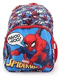 QIPS Marvel Spider Man 12 Inch / 10 Ltrs Polyester School Backpack for kids (HMHMSB 00832-SPM)
