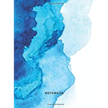 Notebook: Dot Grid Design Bullet Journal - Blue Ocean Watercolor - 150 Pages - Large (8.5 x 11 inches)
