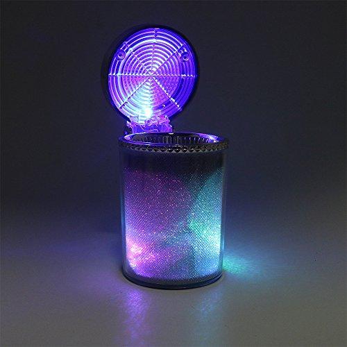 ITimo - Cenicero coche luz LED cigarrillos cenizas