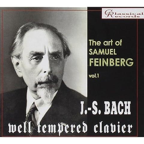 The Art of Samuel Feinberg Vol 1.Bach: Well-Tempered Clavier. Book 1 & 2 (3 cd set). - Bach Well