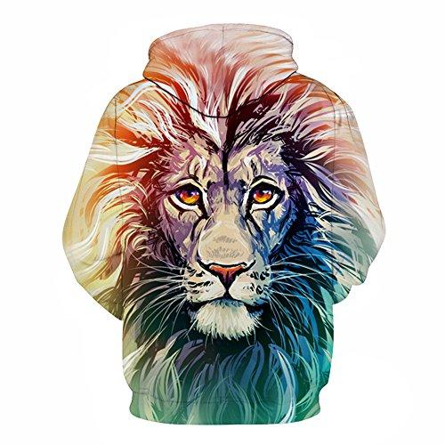 Hommes Femmes sweats à capuche Sweat à capuche&Impression 3D Lion Animal Couple Grande Taille Sweat Pulls Automne Hiver Survêtement Outwear Lion