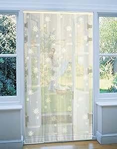 Rideau de porte moustiquaire Moustidéco - 100x220 cm - jaune