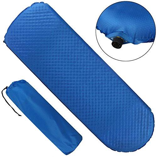ALPIDEX selbstaufblasende Isomatte CAFOUR 198 x 63 x 7 cm für Frühling-, Sommer- Herbst und laue Winternächte mit Temperaturen bis ca. -5° C, Leicht, inkl. Packsack, Farbe:Balance Blue