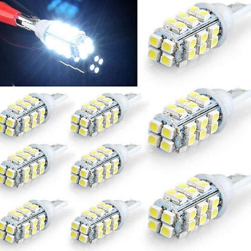 Oce180anYLV 10 Stück Weiß Farbe 28 SMD LED Wedge Glühbirne Lampe 12 V für Auto RV Licht