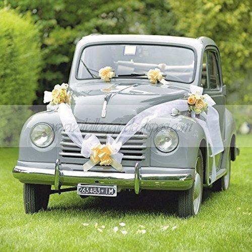 kit decorazione auto macchina sposi costumi divertenti