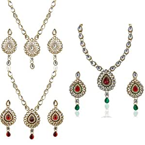 Bridal kundans jewellery sets for wedding jewelleries for women necklace for girls fashion party wear