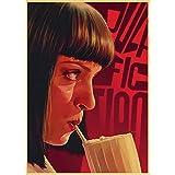 Quadro su Tela Pulp Fiction Poster Poster del Film Adesivi Decorativi da Parete per Soggiorno Camera da Letto Stampato Pittura Moderna Immagine di Claer 60x80cm