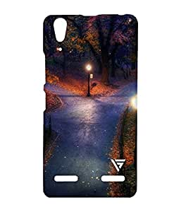 Vogueshell Park City Lights Printed Symmetry PRO Series Hard Back Case for Lenovo A6000