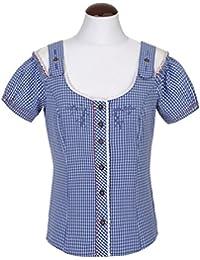 Spieth & Wensky - Karierte Damen Trachten Bluse in verschiedenen Farben, Dallas (261450-0948)