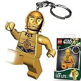 LEGO LGLKE18 - Star Wars Schlüsselhänger mit Lampe C3Po, mehrfarbig