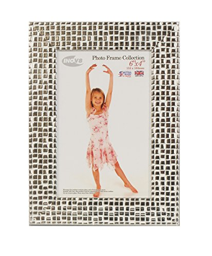 Inov8 6 x 4-Inch British Made Picture/Photo Frame, Mosaic Silver