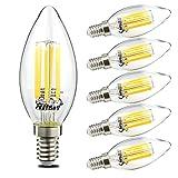 6er 6W E14 LED Filament Fadenlampe Glühbirne Glühlampen Kerzen Kugel