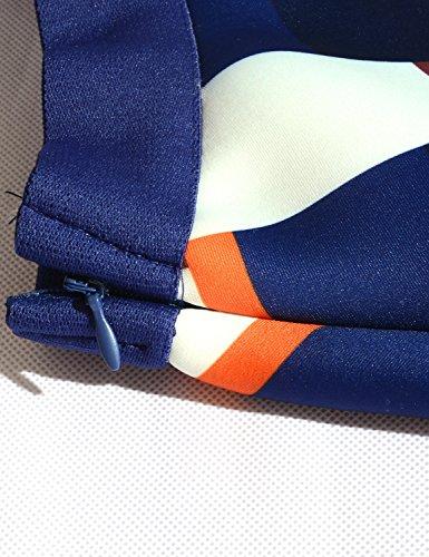 Relaxfeel Taille haute Vintage Tutu A-ligne Mini jupes taille élastique Scuba plaid Couleur