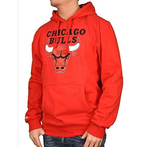 Mitchell & Ness Chicago Bulls Team Logo Hoody Hoodie Red Sweater