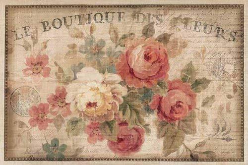 Keilrahmen-Bild - Danhui Nai: Parisian Flowers III 50 x 75 cm Leinwandbild