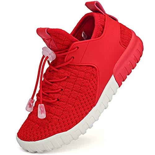 BAOLESEM Sportschuhe Kinder Turnschuhe Jungen Mädchen Outdoor Hallenschuhe Laufschuhe Atmungsaktiv Freizeit Schuhe Sneaker,Rot,EU 33 (Jungen Schuhe Turnschuhe)