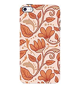 ColourCrust Apple iPhone 4 Mobile Phone Back Cover With Floral Pattern Style - Durable Matte Finish Hard Plastic Slim Case