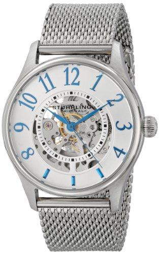 Stuhrling 746M.01 - Orologio da polso da uomo, cinturino in acciaio inox colore argento