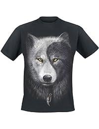 Spiral Wolf Chi T-shirt noir