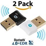 Bluetooth CSR 4.0USB Dongle Adaptador, ekson Bluetooth Transmisor y receptor para Windows 10/8,1/8/7/Vista–Enchufe y Jugar en Win 7y superior.