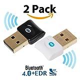 Bluetooth CSR 4.0USB Dongle Adapter, ekson Bluetooth-Sender und Empfänger für Windows 10/8.1/8/7/Vista–Plug und Play auf Win 7und vor.