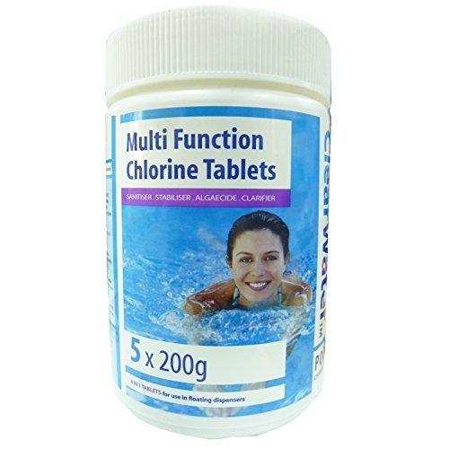 clearwater-tavolette-di-cloro-multifunzione-5-x-200g-garden-pool-jacuzzi-hot-tub-spa-chemicals-tratt