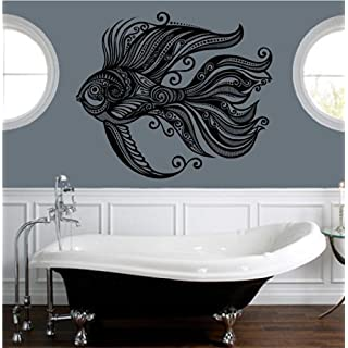 Beautiful abstract sea fish vinyl wall art decal by ABAK Trading International LLC