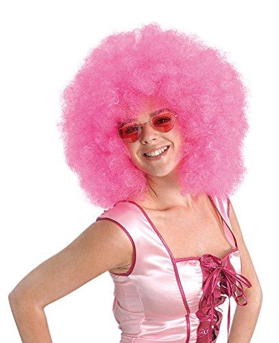 1Afro Perücke pink Mega, One size (Halloween Kleid Ideen, 2017)