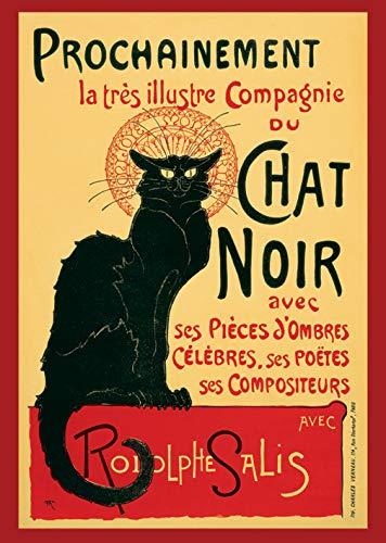 Chat Noir Le Poster, 61 x 91.5 cm, Mehrfarbig (Poster Noir La Chat)