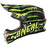 O'Neal 3Series Motocross Helm Crawler Schwarz Grün Motocross Enduro Cross Motorrad MX Quad Offroad, 0603D-50, Größe Small (55 - 56 cm)