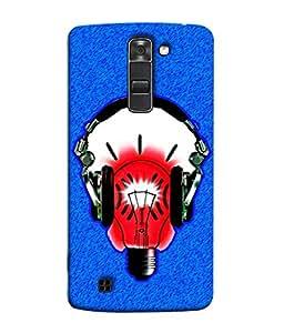 Fuson Designer Back Case Cover for LG K7 :: LG K7 Dual SIM :: LG K7 X210 X210DS MS330 :: LG Tribute 5 LS675 (Record Masti Gramaphone LP Records Headphone)