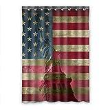 Dalliy Custom bandiera americana e statua della libertà finestra tenda in poliestere 132,1x 182,9cm circa 132cm x 183cm (One Piece), Poliuretano, C, 52' x 72'