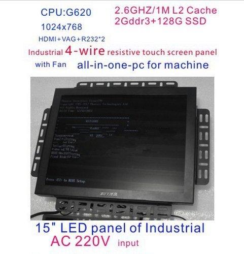 Preisvergleich Produktbild Gowe All in One Touch Bildschirm PC 38,1cm LED Touch Hohe Temperatur 4Draht resistiver Touch Bildschirm Standard mit 2G RAM 128G SSD