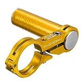 OUTERDO Aluminium Fahrradlampe Taschenlampe Scheinwerfer Halterung für Fahrrad Computer Handy MTB Gelb