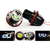 2 x Luffy BMW E87 E60 E61 E63 E39 E53 X5 sans erreur Angel Eye Phare Halo CREE Ampoule LED 20 W blanc