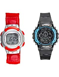 Fantasy World Red Watch And Sports Watch Combo For Boys And Girls
