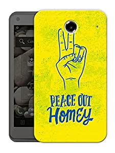 """Humor Gang Peace Out Homie Printed Designer Mobile Back Cover For """"Lenovo S880"""" (3D, Matte Finish, Premium Quality, Protective Snap On Slim Hard Phone Case, Multi Color)"""