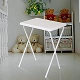Ligera Mesa plegable de plástico portátil Tabla semental Escritorio simple del escritorio del ordenador Aprender tabla móvil ( Color : Blanco )