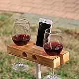 Handgemachte hölzerne Außenweinglashalter Telefon Dock