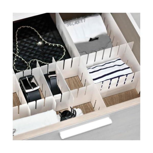 Cassetti In Plastica Componibili.Ducomi Modul Divisore Modulare Per Cassetti In Plastica Fornito In 6 Pratici Pezzi Componibili 3 Taglie Disponibili 2 8x6 5x42 3