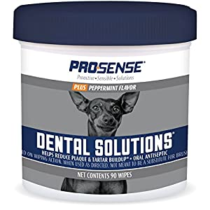 Pro-Sense Plus Dental Solutions Wipes for Dogs 90 CT
