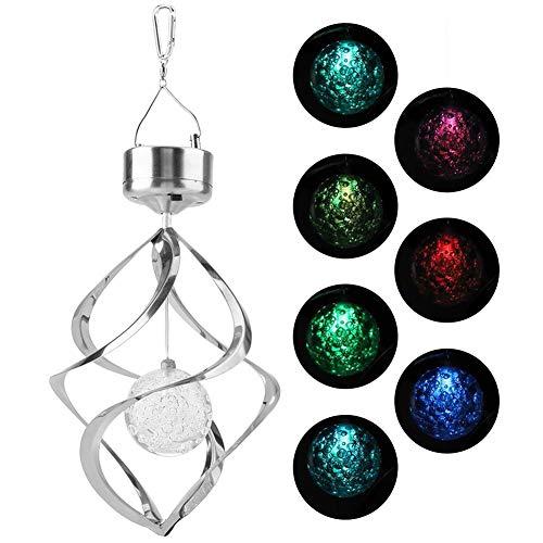 Riuty Windspiel-Licht, solarbetriebene Farbe, die LED-Windspiel-hängende Lampe ändert, vervollkommnen für Garten-Yard-Rasen-Balkon-Veranda-Dekoration