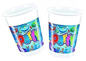 Procos 04119-Vasos Party Streamers, multicolor