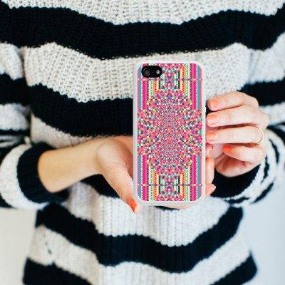 Apple iPhone 4 Housse Étui Silicone Coque Protection Effet d'optique Motif Motif Housse en silicone blanc