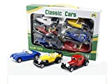 #7: POWERPLAY Metal Classic Cars (Set of 6) Toy for Kids