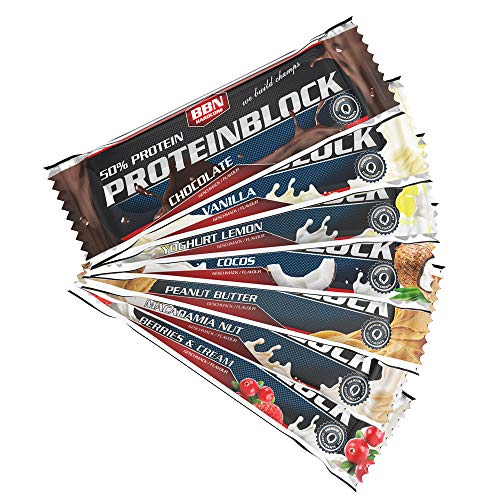 BBN Hardcore Protein Block Riegel, Mix Box, 15 Stück