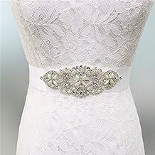 Cinturón para cinturón de Boda Zda con Cristales de imitación para Vestido de Novia, 8
