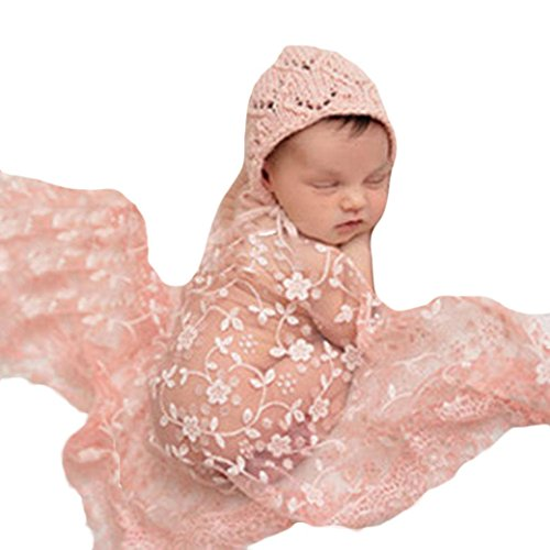 Boy Best Kostüm Toddler - URSING Fotografie Requisiten, Baby Fotoprops Neugeborenes Mutterschaft Props Baby Foto Props Spitze Puckdecke Lace Swaddle Blanket Wickeltuch Steppdecke mit Stirnband (Beige)