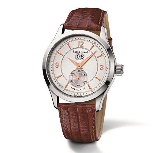 LOUIS ERARD MEN'S LEATHER BAND STEEL CASE AUTOMATIC WATCH 42202AA01.BDC02
