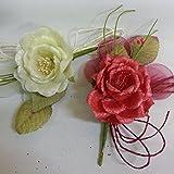 Confezione 10 pezzi, Bomboniera fiore bouquet + racchettine portaconfetti. (oing7034)